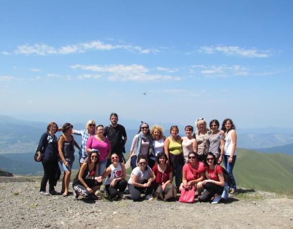 учасники тренінгу підкорюють гори Грузії